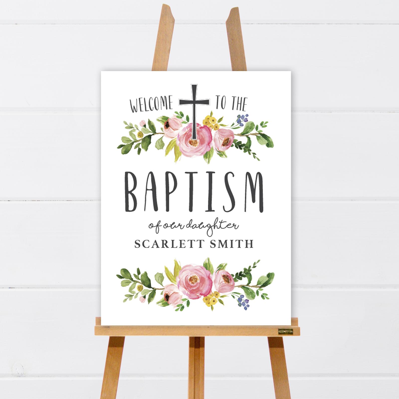 shop    baptism welcome signs  u2013 simplyalove